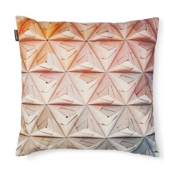 Ružová obliečka na vankúš Snurk Geogami, 50 x 50 cm