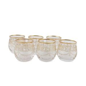 Sada 6 sklenených pohárov Nikiforos