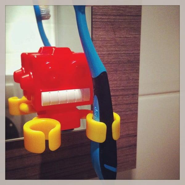 Držiak na zubné kefy Robot