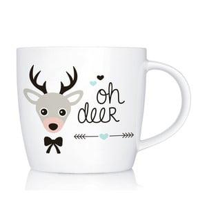 Porcelánový hrnček We Love Home Oh Deer, 300 ml