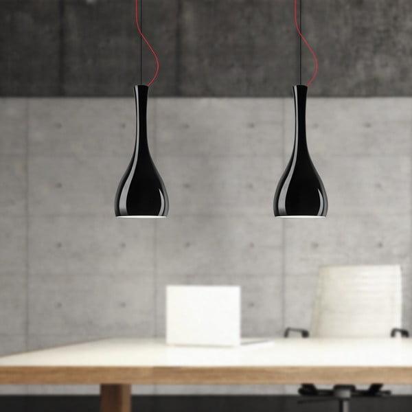 Matné čierne závesné svetlo Sotto Luce Itteki