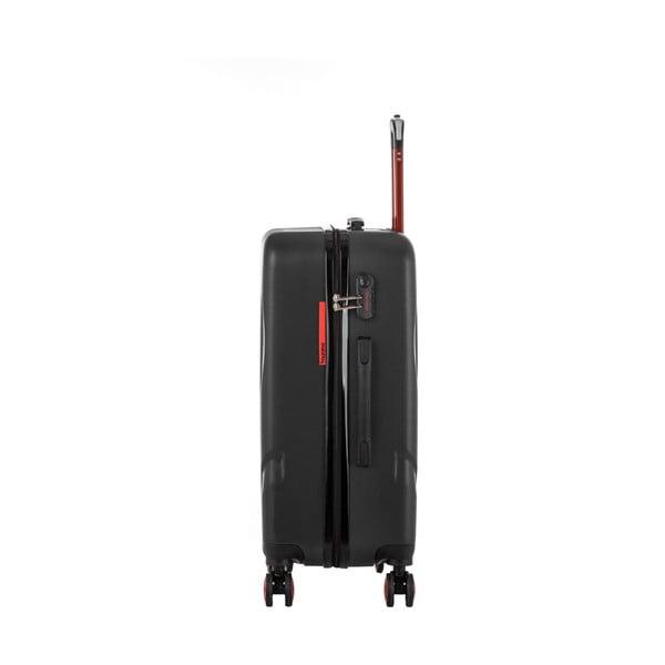 Čierny cestovný kufor Murano Manhattan, 71 l
