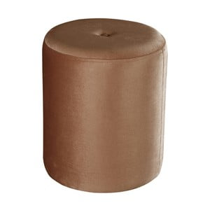 Hnedý puf JohnsonStyle Ellen Magic Velvet, ⌀ 40 cm