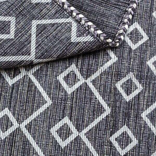 Tmavosivý ručne tkaný koberec Kilim Elegant 12, 110 x 60 cm