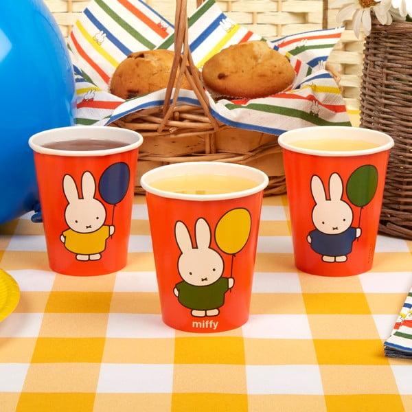 Sada 8 papierových pohárikov Neviti Miffy Birthday