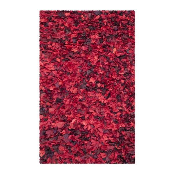 Koberec Penelope Shag Red, 121 x 182 cm