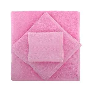 Sada 3 ružových uterákov Rainbow