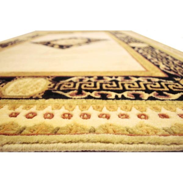 Vlnený koberec Vanilla Black, 120x180 cm