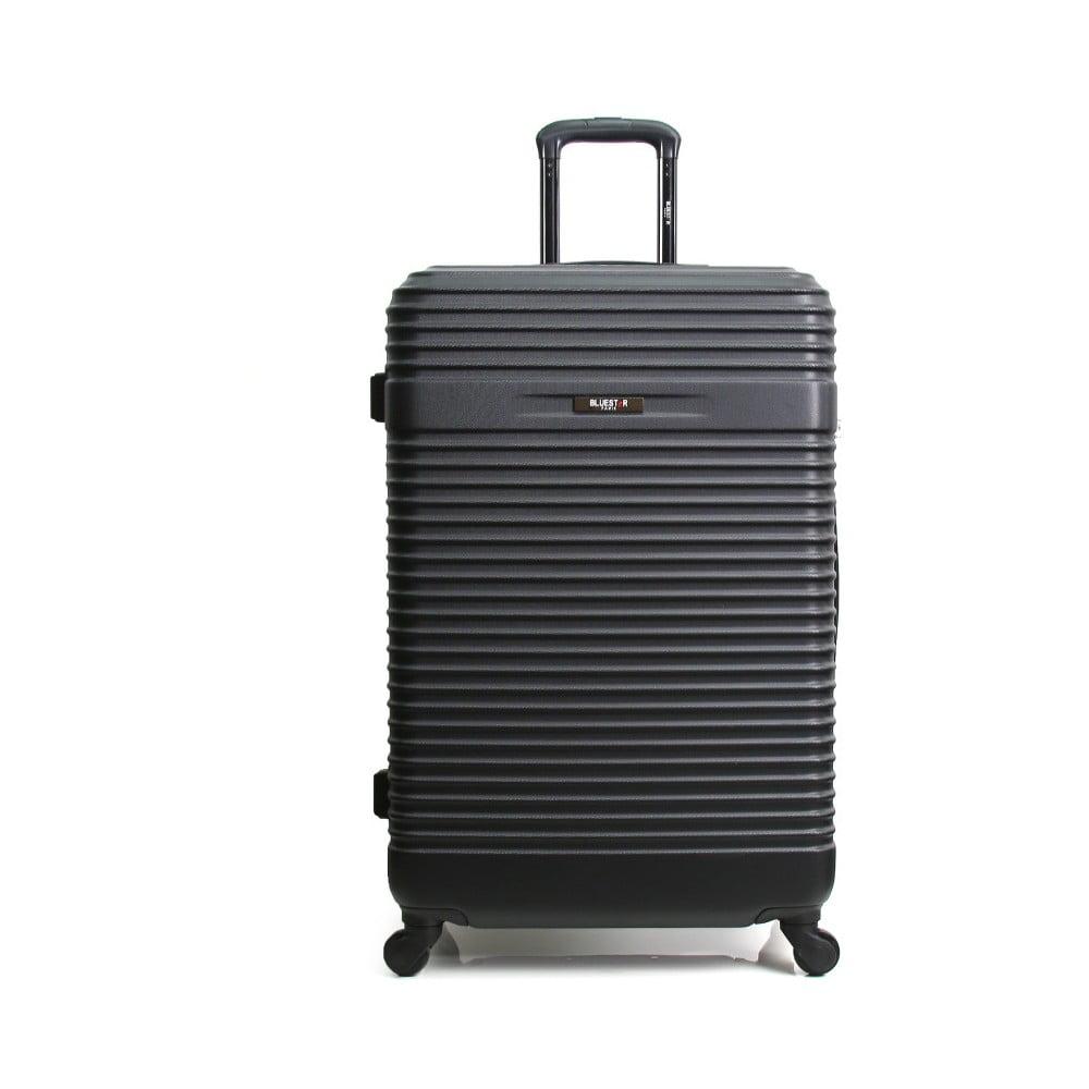 Čierny cestovný kufor na kolieskach Bluestar Cargo, 64 l