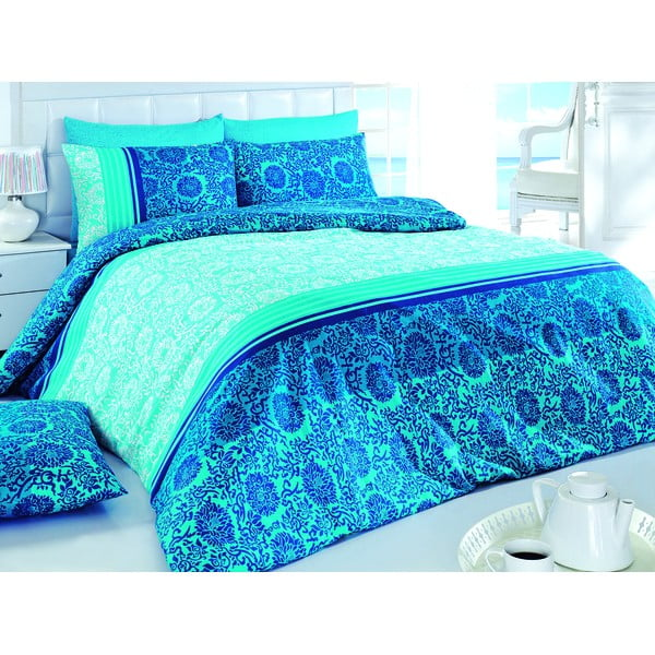 Sada obliečok a plachty Blue Baroque, 200x220 cm