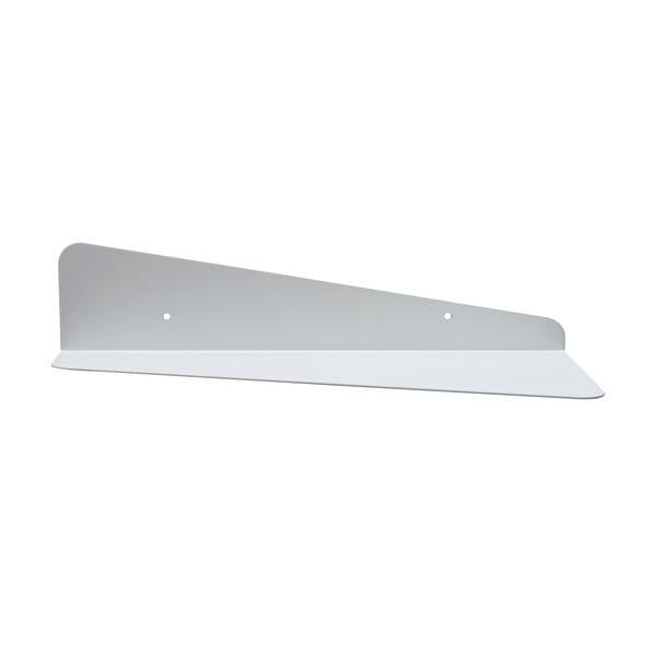 Nástenná kovová polica Gie El 45 cm, biela