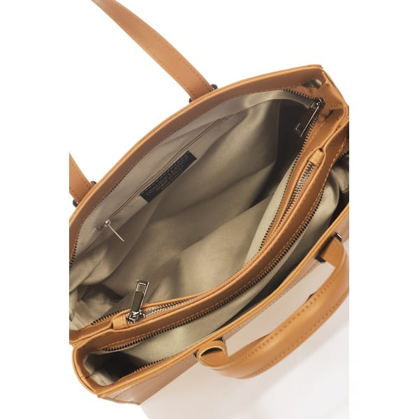 Kožená kabelka Gabriella, koňaková