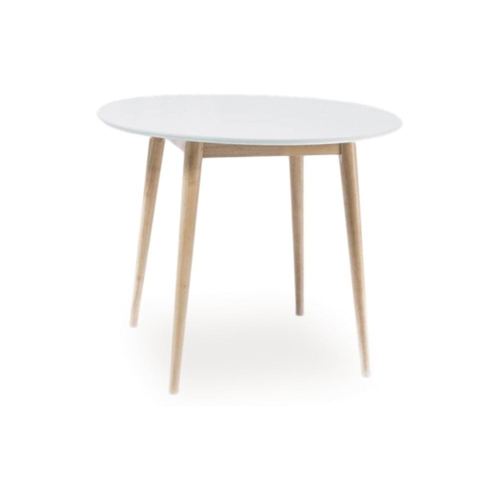Stôl s bielou doskou Signal Larson, ⌀ 90 cm
