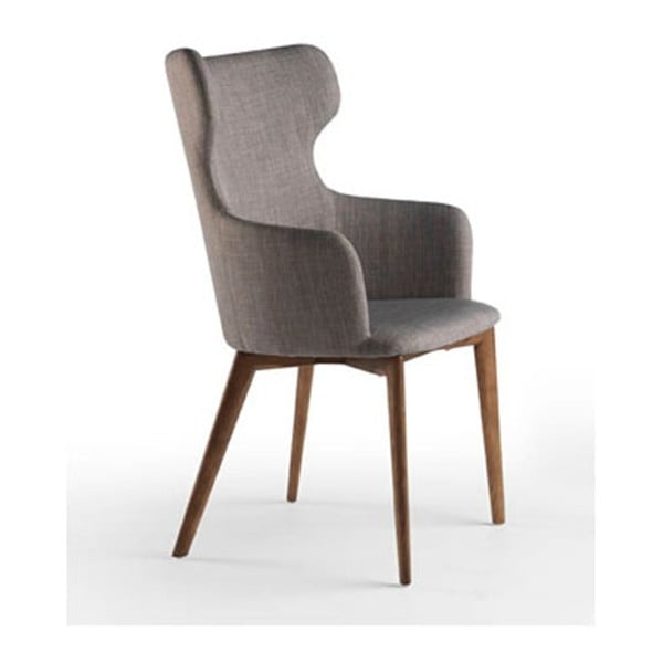 Jedálenská stolička s podnožou z orechového dreva Ángel Cerdá Fiastte