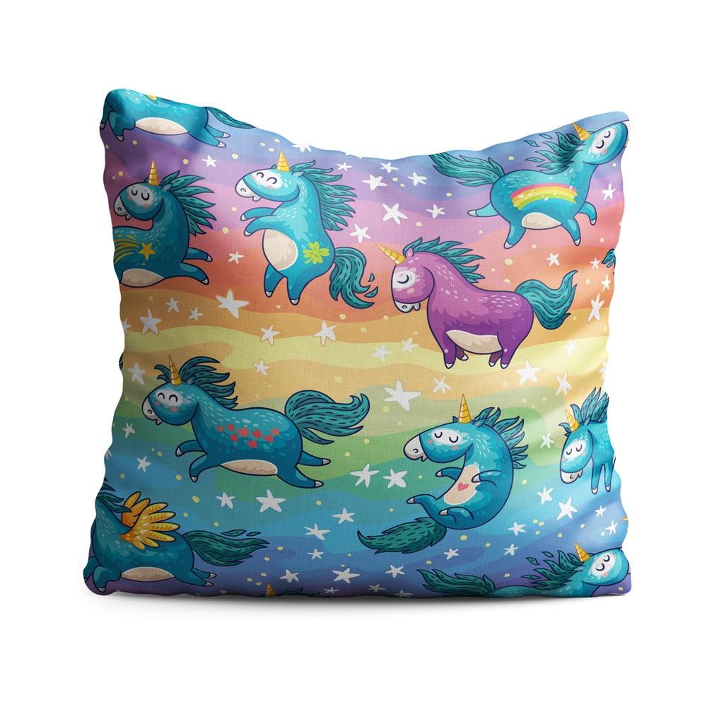 Detský vankúš OYO Kids Unicorn Pattern, 40 x 40 cm