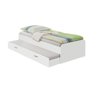Biela jednolôžková posteľ 13Casa Pepper, 90 x 200 cm