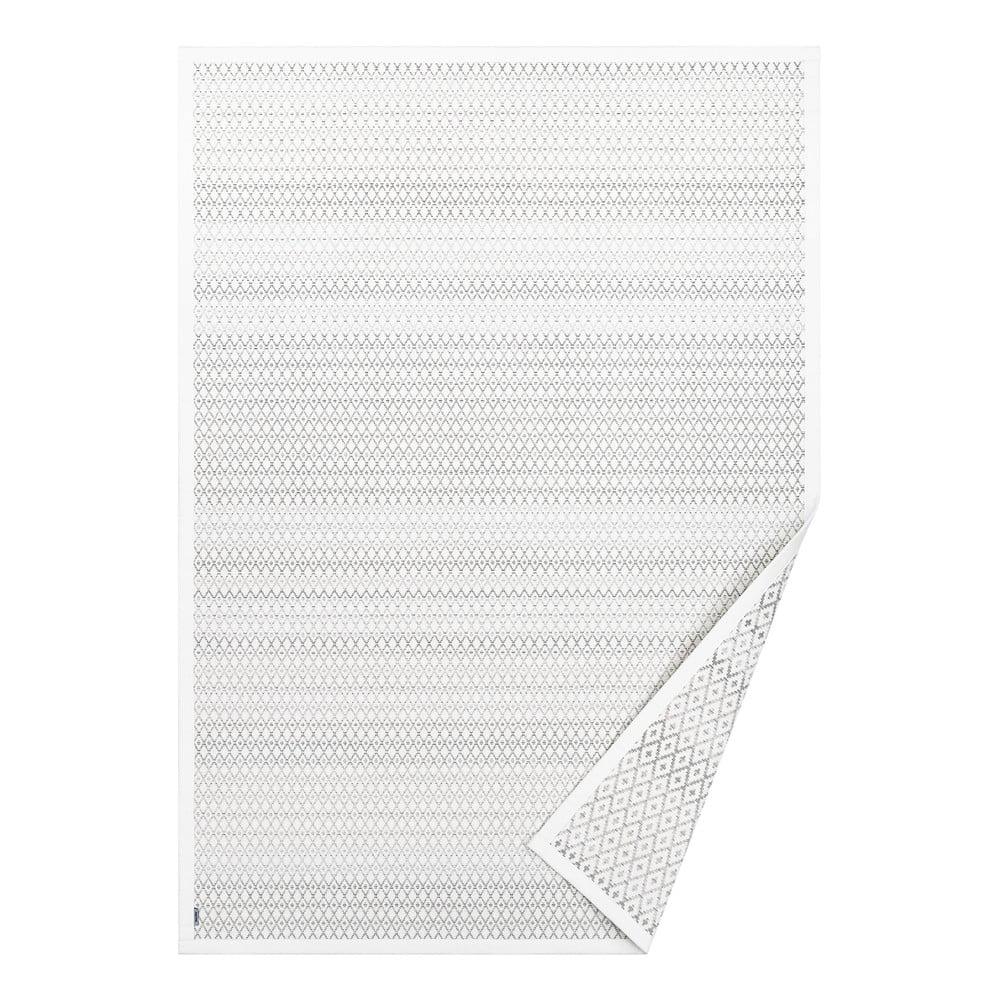 Biely vzorovaný obojstranný koberec Narma Tsirgu, 140 × 70 cm
