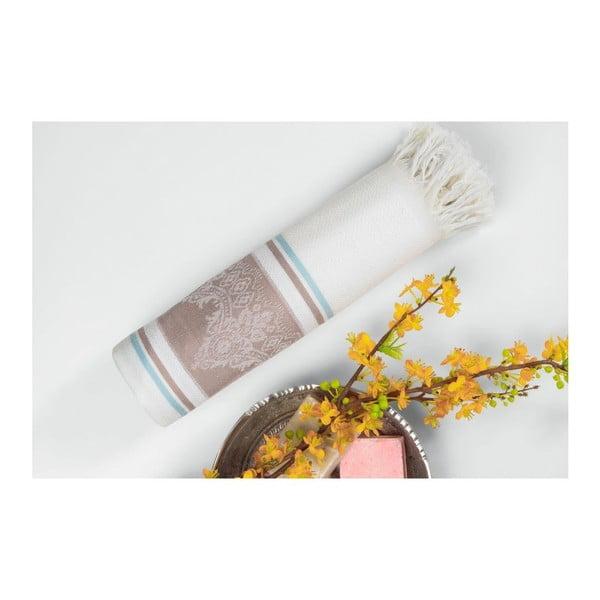 Hnedo-béžová hammam osuška Deco Bianca Loincloth Beige, 80x170cm
