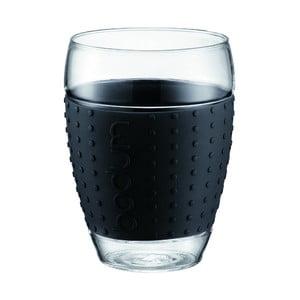 Sada 2 pohárov Pavina Big, čierny prúžok