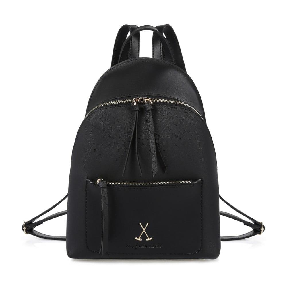 Čierny batoh z eko kože Beverly Hills Polo Club Fran