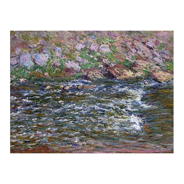Obraz Claude Monet - Rapids on the Petite Creuse at Fresselines, 60x45 cm