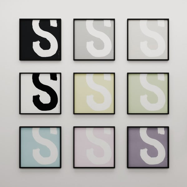 Plagát Litera S, 50x50 cm