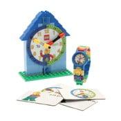 Modré hodinky a výuková stavebnica LEGO® Time Teacher