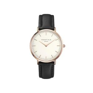 Bielo-čierne dámske hodinky Rosefield The Bowery
