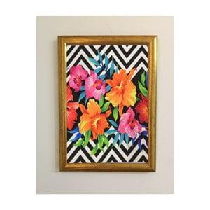 Obraz Piacenza Art Flower Zigzag, 30×20 cm