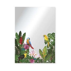 Nástenné zrkadlo Surdic Espejo Decorado Tropical Birds, 50×70 cm