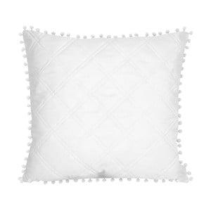 Biela obliečka na vankúš Slowdeco Pompoon, 45×45 cm