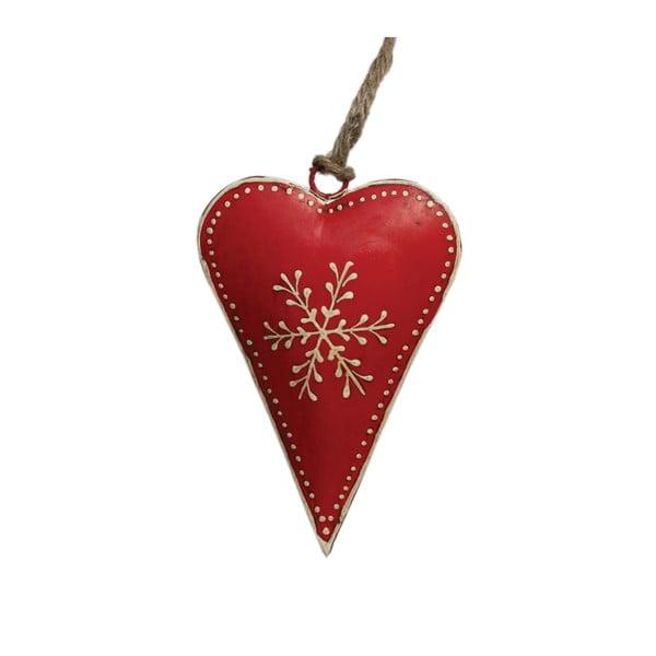 Červené vianočné dekorácie Rex London Snowflake