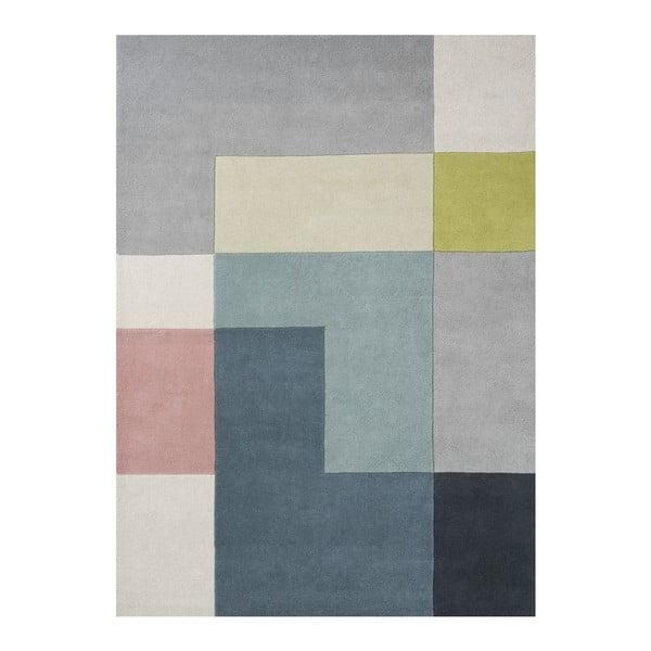 Vlnený koberec Tetris Lime, 170x240 cm