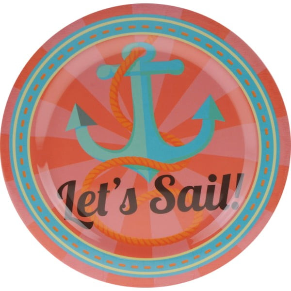 3-dielna kempingová sada riadu Postershop Let's Sail