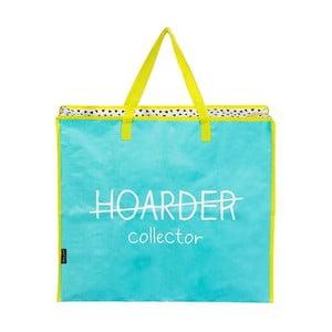 Modro-žltá nákupná taška na zips Happy Jackson