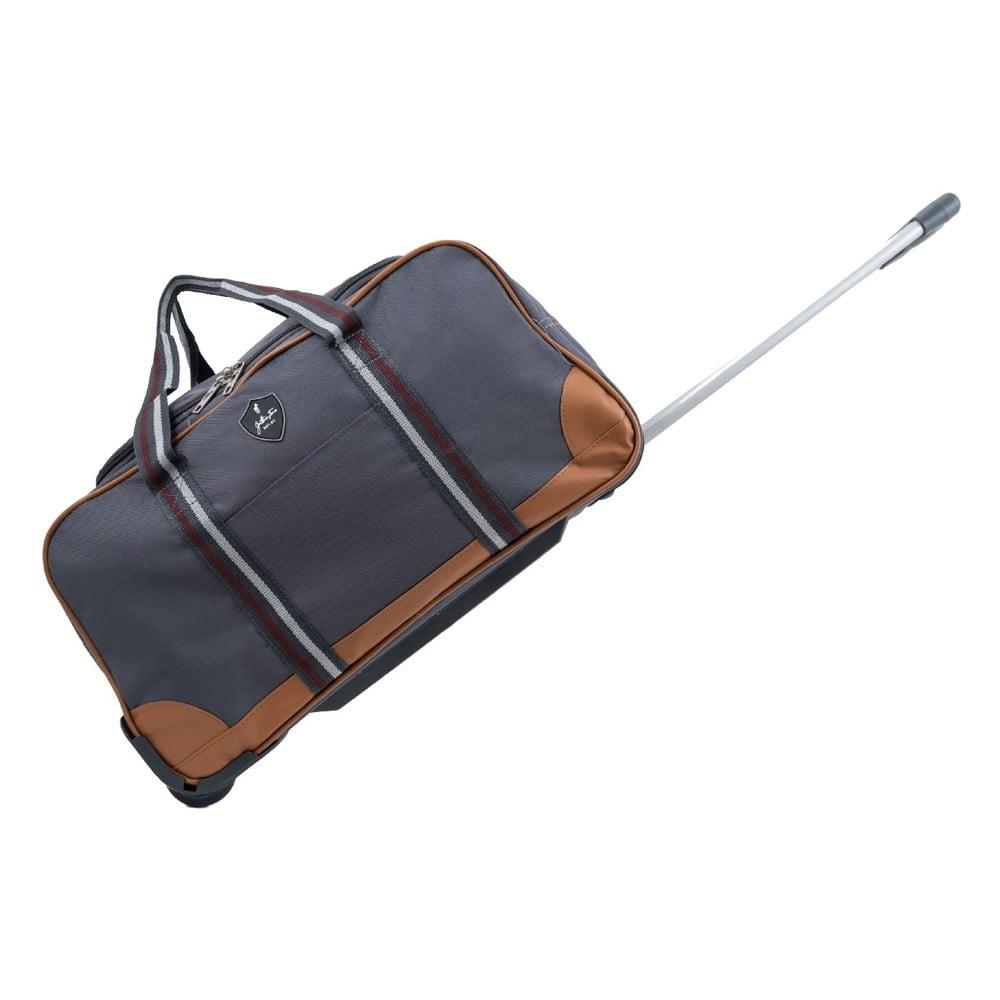 Tmavosivá cestovná taška na kolieskach GENTLEMAN FARMER Sydney, 40 l