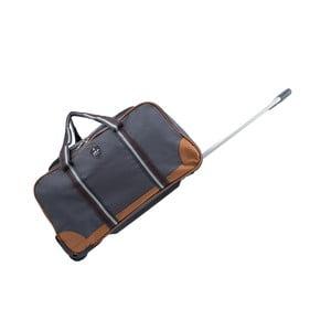 Sivá cestovná taška na kolieskách GENTLEMAN FARMER Sydney, 93 l