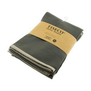 Sada 3 sivých bavlnených utierok Tiseco Home Studio, 50 × 70 cm