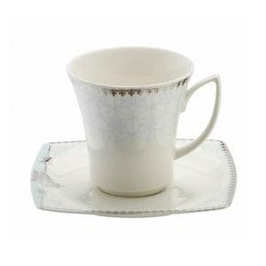 Sada 6 porcelánových šálok s tanierikmi Kutahya Miko