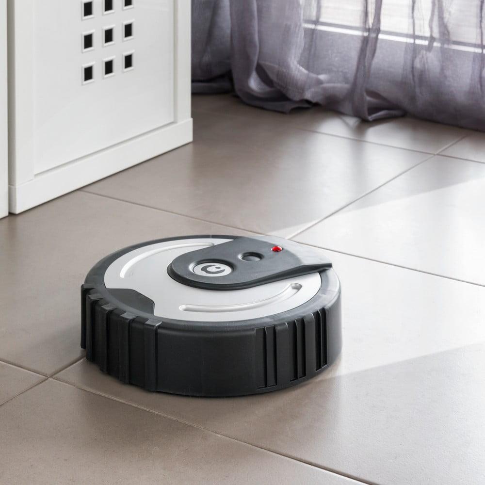 Čierny robotický čistič podlahy InnovaGoods Floor Cleaner
