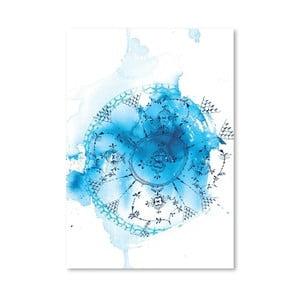 Plagát Blue Plate Wash, 30x42 cm