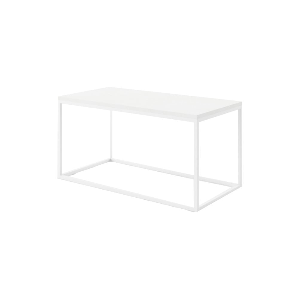 Veľký biely konferenčný stôl z mramoru s bielou podnožou Absynth Noi Brazil