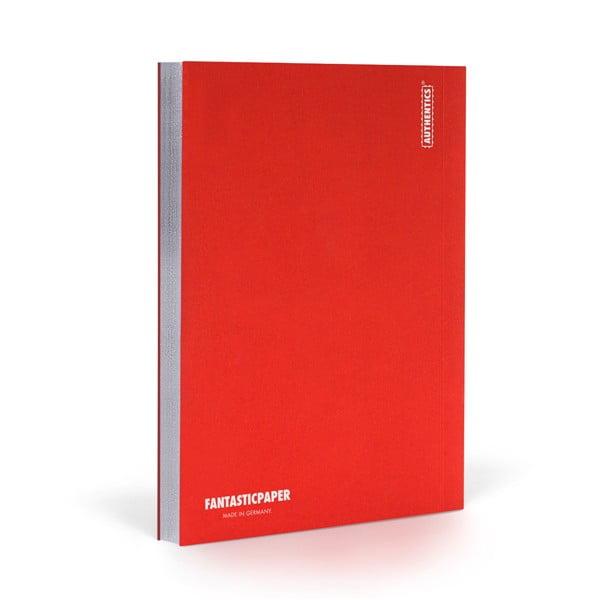 Zápisník FANTASTICPAPER A5 Cherry/Silver, štvorčekový