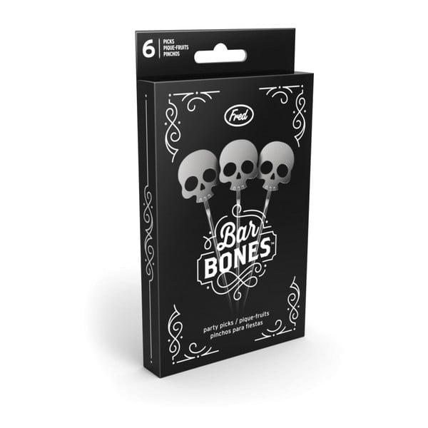 Sada 6 koktejlových špáradiel Fred & Friends Bar Bones