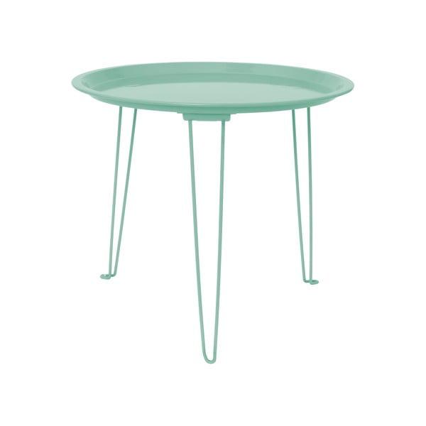 Kovový stolík Present Time Tray Jade