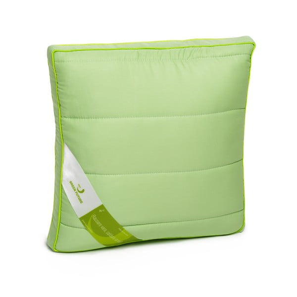 Zelený vankúš s bambusovými vláknami Nature Green Future, 37 x 37 cm