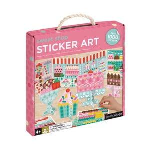 Sada interaktívnych papierových figúriek so samolepkami Petit collage Sweets