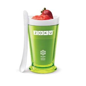 Zelený výrobník ľadovej triešte Zoku Slush & Shake
