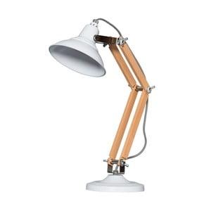 Drevená stolová lampa s bielym tienidlom ETH Calia