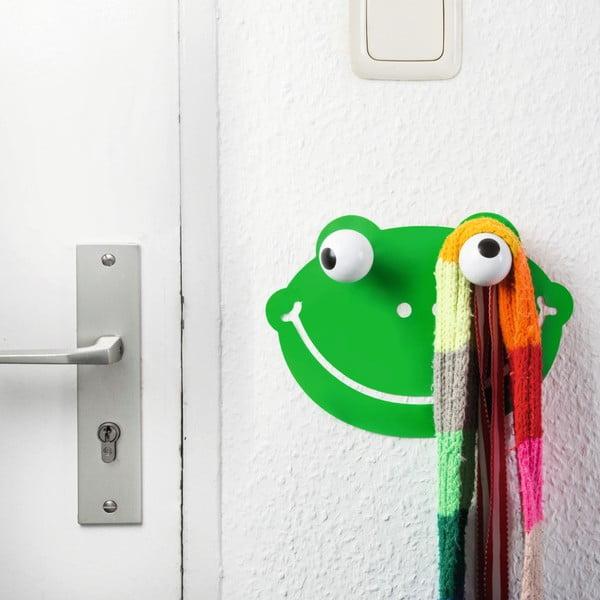 Dekoratívny háčik a nálepka na stenu Donkey Hooklys Froggy